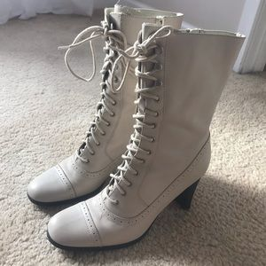 ana high heel lace-up boots!!